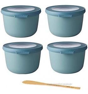 Mepal Nordic Green Cirqula Set 4 x 500 ml Frischhaltedosen inkl. De Buyer Rounded Spatula B Bois Frischhaltedosen Set Vorratsdosen Gefrierdose Bowls