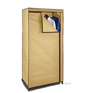 Spetebo Stoffschrank 160 cm inkl. Kleiderstange Beige Kleiderschrank Faltschrank Stoffkleiderschrank